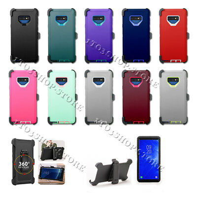 Samsung Galaxy Note 9 Hard Shell Case w/Holster Belt Clip Fits Otterbox Defender