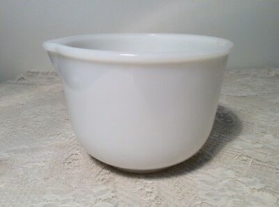 Vintage White glasbake sunbeam 20 CJ Mixing Bowl with Spout FOR SUNBEAM MIXER