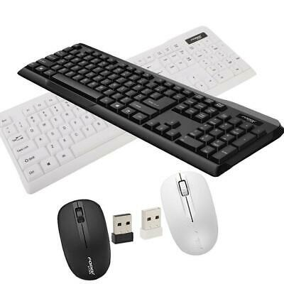 104 Keys Wireless Gaming Keyboard and Mouse Combo for Desktop Computer Laptop PC