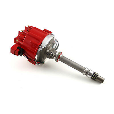 fit Chevy SBC 350 BBC 454 65K Coil HEI Electronic Distributor w/Tach Drive - Red