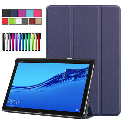 "For Huawei Mediapad M5 Lite 10.1"" Tablet Smart PU Leather Folio Stand Case Cover"
