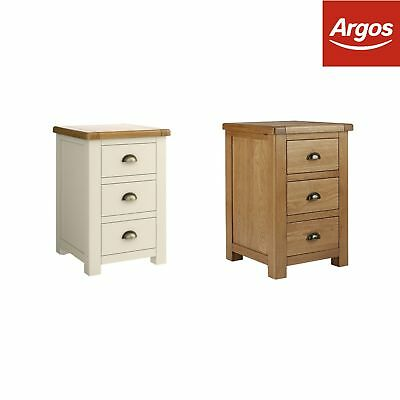 Argos Home Kent 3 Drawer Bedside Chest - Choice of Colour