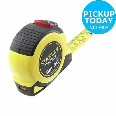 Stanley 8m Dual Lock Tape Measure