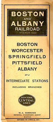 Boston & Albany Railroad system passenger time table June 24, 1917