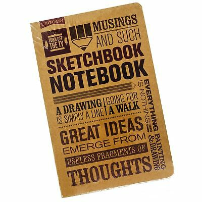 Lagoon Turn off the TV Classic Small A5 Brown Sketchbook Notebook Writing Gift