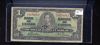 1937 Bank of Canada $1 Gordon Towers BL1372