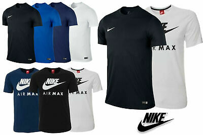 Men's Nike Air Max T-Shirt and Nike Tees with Tick Crew Neck Short Sleeves Top