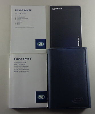 Owner's Manual + Wallet Range Rover Typ LG / L405 from 2013