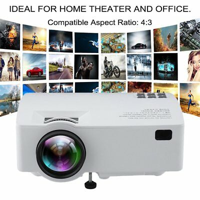 WiFi 4K 3D Full HD 1080P LED Projector Home Theater Android 6.0 Media Player Hot