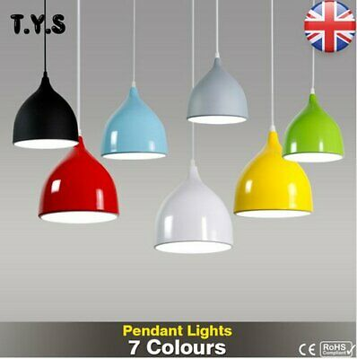 Modern Retro Style Home Ceiling Pendant Light Shade Lampshades Shades 7 Colors