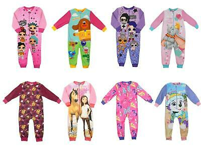 Girls Character  All In One Fleecey Sleepsuit Sizes From 18-24 mths to 9-10 Year
