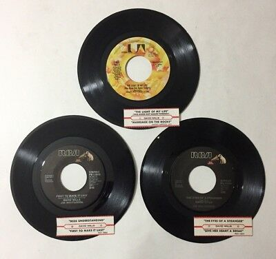 "David Wills 3 Lot 45 RPM Vinyl 7"" Record Country 1970s Jukebox Strips"