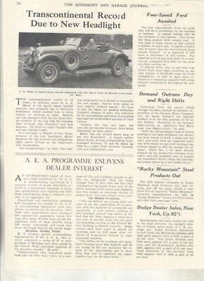 1927 Speed Eagle Special Ilco Ryan Headlights Electric Truck Show Article wz7040