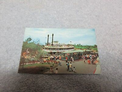 1955 DISNEYLAND POSTCARD Mark Twain FIRST VIEWS #0032 PLASTICHROME Near-Mint