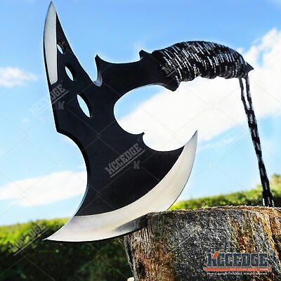 "11"" COMBAT HUNTING TOMAHAWK THROWING AXE Tactical Full Tang Spiked Hatchet"