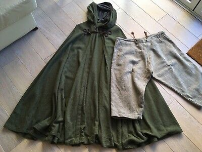 Green wooden vintage cloak/cape & trousers - Hobbit, Game of Thrones