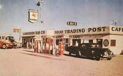 Route 66 Roadside Postcard The Longhorn Ranch Gas Station, Moriarty, New Mexico