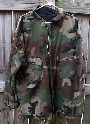 Chem Jacket US Army Military Chemical Protection Suit X-Large Woodland Camo