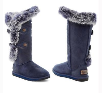 9f057a73154 AUSTRALIA LUXE COLLECTIVE Nordic Angel Tall Boots Shearling Rabbit Fur Us 7  Blue