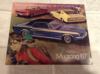 Vintage 1967 Ford Mustang Car Sales Brochure 16 Pages
