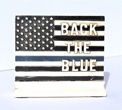 Thin Blue Line Police Back The Blue Law Enforcement 3 3/4x4 1/4 inches New