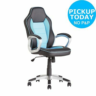 Argos Home Racing Style Office Gaming Chair - Blue