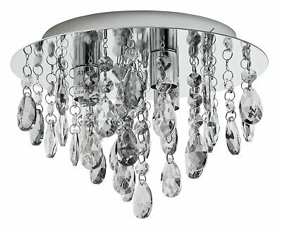 Argos Home Ivy Glass Bead Ceiling Light - Grey
