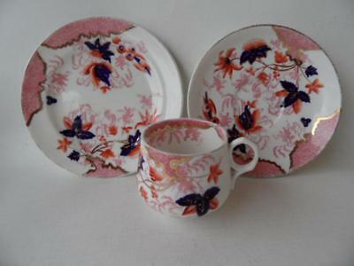 English Antique Victorian 1874+ Charles Ford Imari tea set trio cup saucer plate