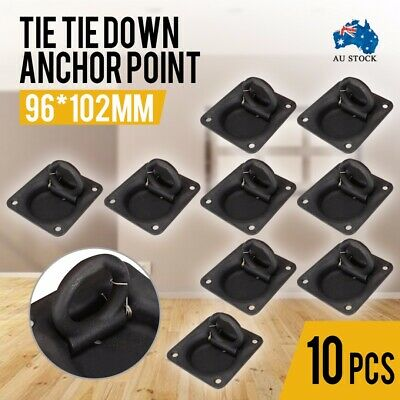 10x Heavy Duty Lashing Ring Tie Down Point Anchor Ute Trailer Recessed 96x102mm