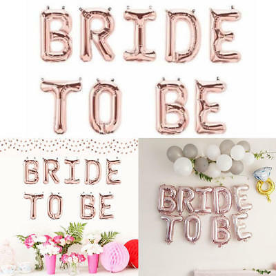 Rose Gold Foil BRIDE TO BE Balloons Wedding Balloon Party Bridal Hen's Night Dec