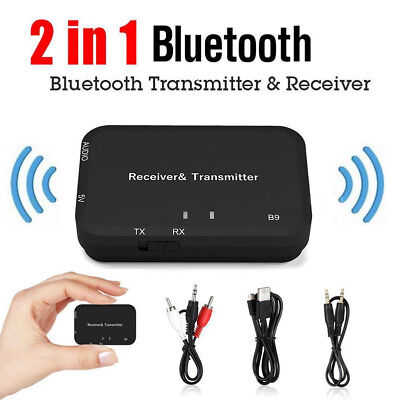 2in1 BT Wireless Audio Transmitter Receiver 3.5mm Music Adapter TV Android & iOS