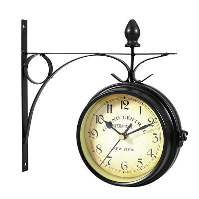 Outdoor Garden wall Station Clock Temperature with Bracket Paddington Station 22