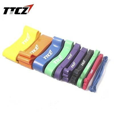 Hot POWER Heavy Duty RESISTANCE BAND GYM Fitness Workout Yoga Strength Exercise