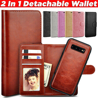 Luxury Leather Wallet Flip Stand Case Cover For Samsung Galaxy S10 S9 S8 Note 9
