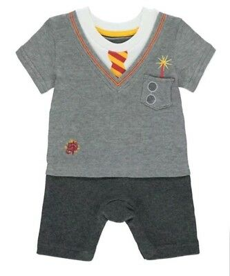 OFFICIAL Harry Potter tie school uniform Hogwarts Baby bodysuit grow Gift new