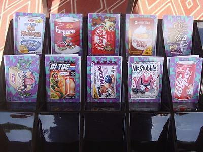 2017 WACKY PACKAGES 50TH ANNIVERSARY CHASE BEST OF 80's ALL 10 BONUS BOX SET ~ ~