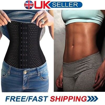 Waist Trainer Shaper Toner Corset Belt Strap Cincher Fully Breathable UK Stock