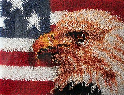 "Latch Hook   Rug Canvas Kit ""american Eagle"""