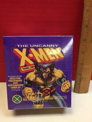 Uncanny X-men Jim Lee Illustrated Cards Factort Sealed Box Of Packs 1992 Impel