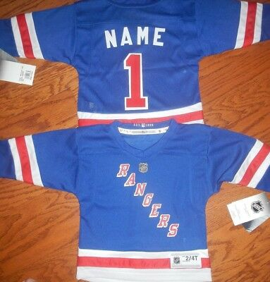 New York Rangers Toddler  NHL Hockey Jersey add  any name & number