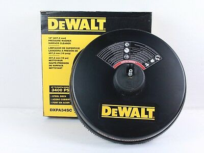 DeWALT 3,400 PSI Surface Cleaner Model: DXPA34SC - Black and Yellow