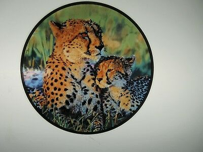 Glassmasters: Cheetah and Baby  National Geographic Society  6.5 inches