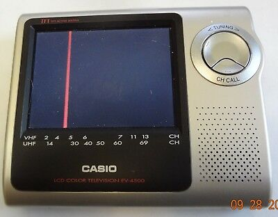 Retro Casio Ev-4500 Color Tv Turns On