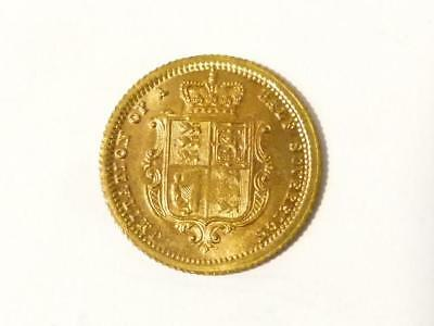 19thC Young Victoria Half Sovereign Toy Model Coin Token LAUER Miniature #10*