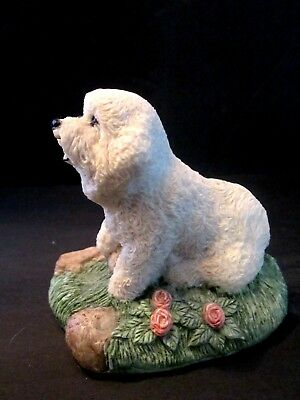 """Charmstone Hand Painted Cold Cast Resin Poodle Sculpted by Earl Sherwan. 3"""" tall"""