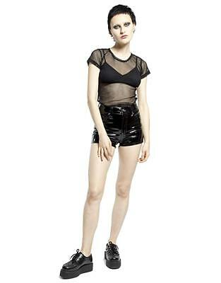 1c9723aefb Tripp Gothic Punk Metal Sexy Rock Star Stage Vinyl High Waisted Shorts  RJ4654