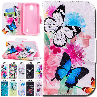 For Nokia 1(2018) Magnetic Flip PU Leather Gel Back Wallet Card Stand Cover Case