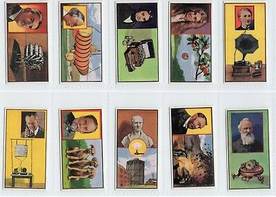 Complete Set of 50 INVENTOR & INVENTION cards from 1962 Edison Fleming Bell ++++