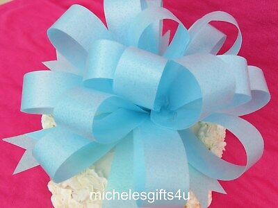 "Large Edible Cake Wafer Paper Bow Ribbon 7""x3"" Edible Rice Wafer Paper"