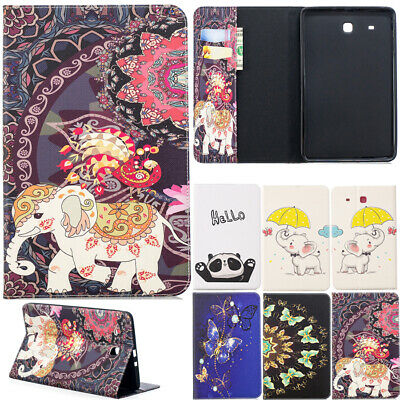 Fr Samsung Galaxy Tab A E S2 S3 S4 Shell PU Leather Tablet Stand Flip Cover Case